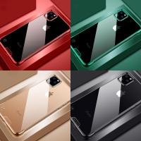 아이폰11 XR XS MAX 클리어 투명 메탈 하드 폰케이스