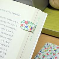 [플라스틱 and 자석 자동책갈피수지인] 써니패턴(꽃잎)