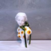 그림아트 해바라기 중형 비너스여인 석고상화분 38cm