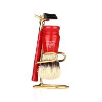 [오메가브러쉬] shaving brush SET 1091.W RED