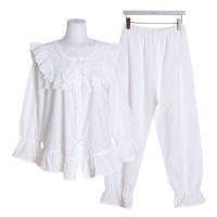 [쿠비카]플라워자수 아사면 투피스 여성잠옷 W514