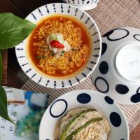 일본식기 미노루 삼각면기