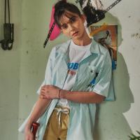 그래픽 셔츠 (스카이블루)