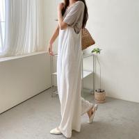 Linen Cotton Wide Jumpsuit