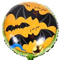 할로윈 은박풍선 18인치 - 박쥐와마녀