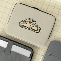 (iPad/13/15인치)자수포켓 노트북파우치_달려라초코