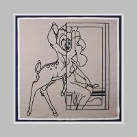 Silk Bambi Square Petit Scarf
