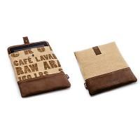 프레소디자인 iPad 파우치 Coffee text