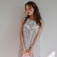 [쿠비카]플라워 프린팅 요루면 원피스 여성잠옷 WM162