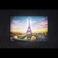 LED 캔버스 조명액자 - 에펠탑의 저녁노을