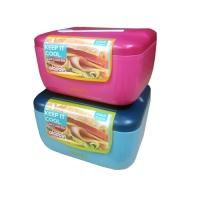 알라딘 아이스 런치박스 블루&핑크 470ml