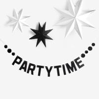 [인디고샵] 블랙 써클 파티타임 가랜드 set