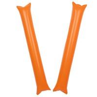 응원용 팡팡막대풍선-오렌지(1쌍)