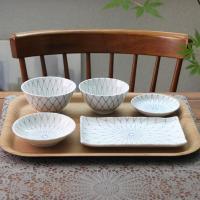 일본식기 아와이블루 반상세트
