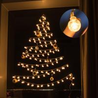 어반 LED 버블전구 크리스마스 벽트리 장식 세트