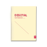 DIGITAL NOTEBOOK 스프링 바인딩 Yellow