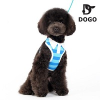 도고 폴로 애견 하네스 세트(블루) 애견 가슴줄/강아지 목줄