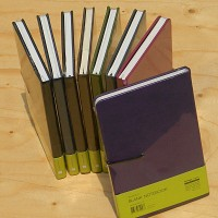 [inoworks] 이탈리아산 고급 습식 PU원단을 사용한 웍스의 스테디셀러 무선노트-블랭크 노트북 맥시(140x214mm) HA277