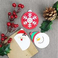눈사람 작은 카드 (크리스마스카드)