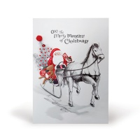 크리스마스카드/성탄절/트리/산타 말달리자 (FS206-1)