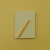 심플 메모지+미니연필
