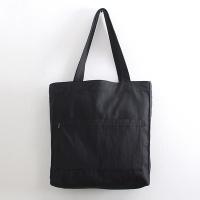 투포켓 심플 비건 레더 숄더백 R51-008 블랙