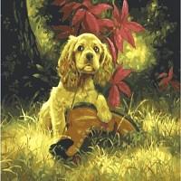 [DIY명화]B935 강아지와 낡은구두 size 50*40cm