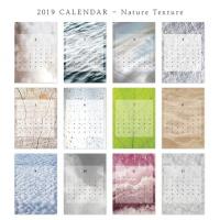 [2019 CALENDAR] Nature texture