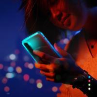 LED 발광 라이트닝 아이폰X 케이스