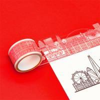 [럭키스] 시티 투명 데코 디자인 테이프 런던