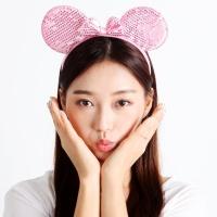 스팡클 마우스 머리띠 - 핑크