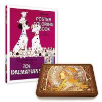 디즈니 포스터 컬러링북+아르누보 50색틴케이스색연필
