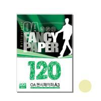 OA팬시페이퍼A-3 120g M-03 흰배추색