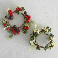 크리스마스 열매 리스 - 2color