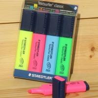 스테들러 형광펜 4색 Textsurfer classic 364 WP4
