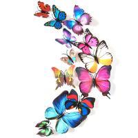 PVC 3D 나비 포인트 스티커 colourful 12P