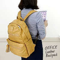 OFFICE LEATHER BACKPACK 오피스 가죽 백팩