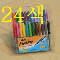 [BiC] Made in U.S.A..24색상의 유성마카-프랑스 빅 Permanent Marking Set A104