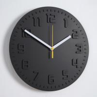 모던 칼라 저소음 벽시계 (블랙) 벽 시계 디자인 추카