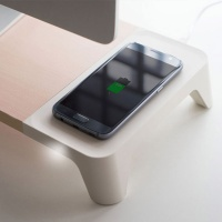 WOODY-Wireless Charger - 무선충전 모니터스탠드
