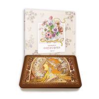아르누보 색연필 50색(틴)+어여쁜 꽃말 컬러링북 세트