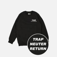 TNR 기모 맨투맨 - 블랙