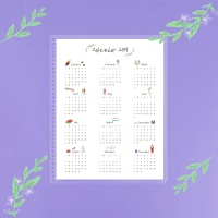색연필달력Schedule Board (Color Pencil Calendar)