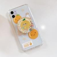 아이폰11 PRO X SE2 7 오렌지 아쿠아 그립톡 폰케이스
