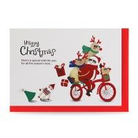 크리스마스카드/성탄절/트리/산타 산타야 달려달려 (FS1021-3)