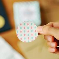 왈가닥스 패턴 서클 스티커 pattern circle sticker