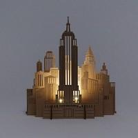 [퍼니피쉬] 크래프트라이츠 - 엠파이어스테이트 빌딩 - LED/Candle