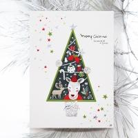 크리스마스카드/성탄절/트리/산타 루돌프 사슴코 FS207-5