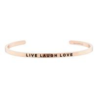 [만트라뱅글] LIVE LAUGH LOVE - 로즈골드