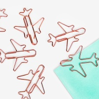 [인디고샵] 로즈골드 비행기 클립 (5개)